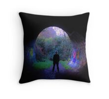Tunnel's End Throw Pillow