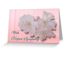 Sympathy - Cherry Blossoms Greeting Card