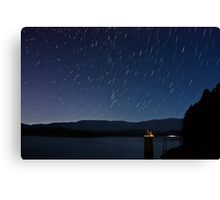 South Holston Lake Star Trails Canvas Print