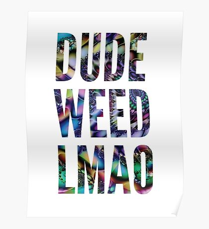 Dude Weed, LMAO Poster