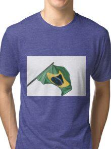 Brazilian flag Tri-blend T-Shirt