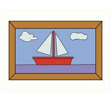 Sail Boat Artwork Art Print