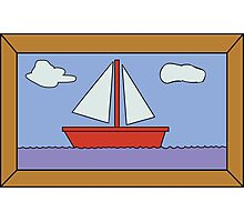 Sail Boat Artwork Photographic Print