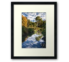 Channel to the White Tree Framed Print