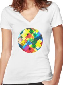 Maps Women's Fitted V-Neck T-Shirt