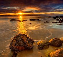 Sunrays on Seven Mile Beach - Tasmania (HDR) by PC1134