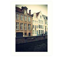 Brugge Canal Art Print