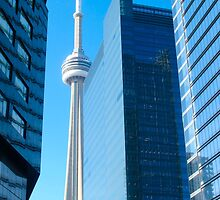Skydome and Blue Toronto by MarianBendeth