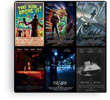 Black Box Films Poster Collage Canvas Print