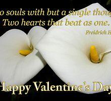 2 lilies 2 hearts valentine card by dedmanshootn