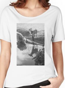 Deer reflex in water Women's Relaxed Fit T-Shirt