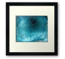 ICE BLUE Framed Print