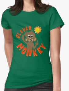 Clever Monkey Womens Fitted T-Shirt