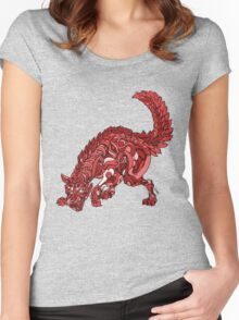 Red Wolf Women's Fitted Scoop T-Shirt