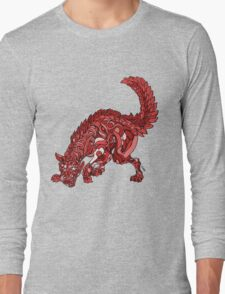 Red Wolf Long Sleeve T-Shirt