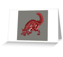 Red Wolf Greeting Card
