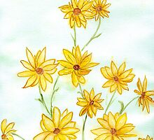 Italian Daisies by Anne Gitto