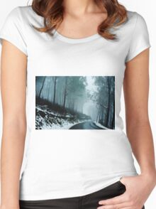 0233  Into a cold dark place   [e] Women's Fitted Scoop T-Shirt