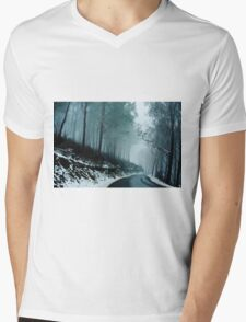 0233  Into a cold dark place   [e] Mens V-Neck T-Shirt