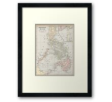 Vintage Map of The Philippine Islands (1901) Framed Print