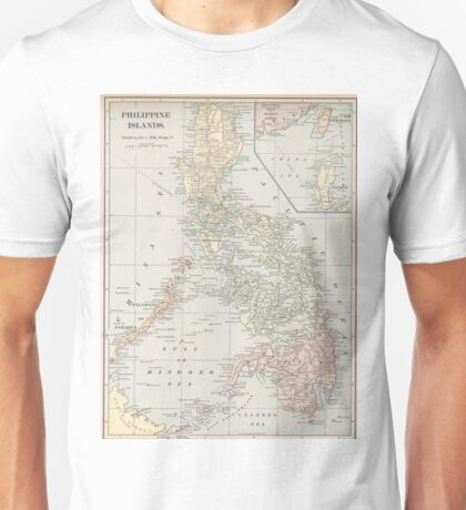 Vintage Map of The Philippine Islands (1901) Unisex T-Shirt