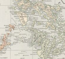 Vintage Map of The Philippine Islands (1901) Sticker