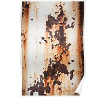 Old Paint Rusty Metal Poster