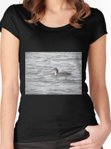 A Loon of Wisconsin Women's Fitted Scoop T-Shirt