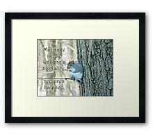 The Sage Of The High Wire Framed Print