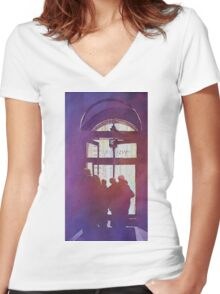 City Portal:  Chicago Art Museum Women's Fitted V-Neck T-Shirt