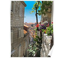 walled city of Dubrovnik Poster
