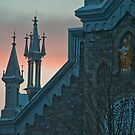 St. Patrick's at Sunset by Wanda Dumas