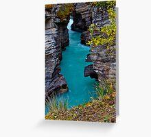 Athabasca Falls / Lower Canyon Greeting Card