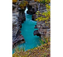 Athabasca Falls / Lower Canyon Photographic Print