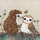 Owl and Hedgehog by © Karin Taylor