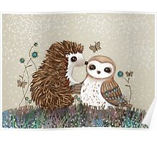 Owl and Hedgehog Poster