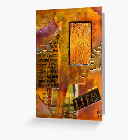 A Woman's LIFE - Greeting Card Greeting Card