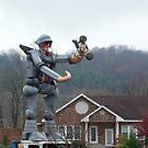Recycling Man, Buena Vista, VA by Karen Checca