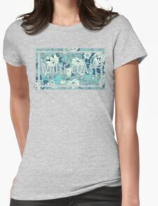 WHITE COAST BOX FLOWER Womens Fitted T-Shirt
