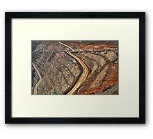 Super Pit - Kalgoorlie Western Australia Framed Print