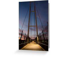 Dean Street Foot Bridge Greeting Card