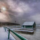 By the dock in Georgeville, Quebec by Sylvain Dumas
