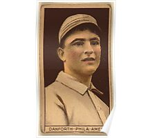 Benjamin K Edwards Collection Dave Danforth Philadelphia Athletics baseball card portrait Poster