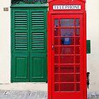 Red Telephone Box, Green Door, Malta by Jane McDougall