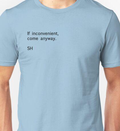 Sherlock Messages - 2 (Black) T-Shirt