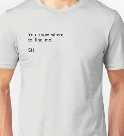 Sherlock Messages - 3 (Black) T-Shirt