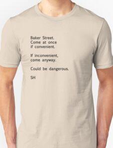 Sherlock Messages - 7 (Black) T-Shirt