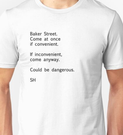 Sherlock Messages - 7 (Black) Unisex T-Shirt