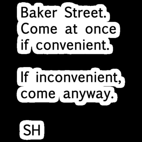 Sherlock Messages - 8 (Black) by katemonsoon