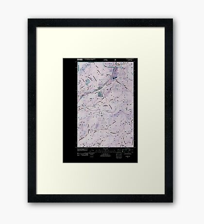 USGS Topo Map Washington State WA Aladdin 20110512 TM Inverted Framed Print